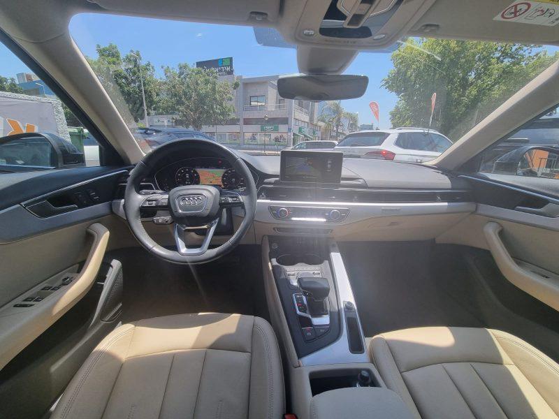 צילום פנים הרכב אאודי A4 QUATTRO DESIGN שחור מטאלי 2019 רכבים יד 2
