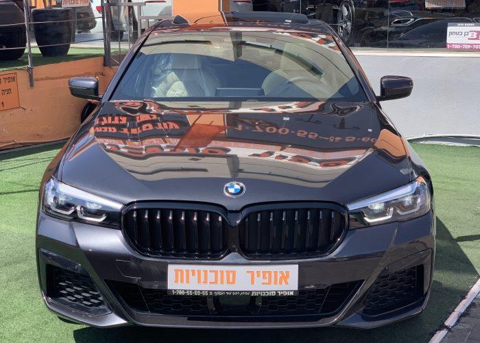 חזית הרכב במוו E 530 e M-SPORT אפור מטאלי 2021 קניית רכב חדש 0 קמ