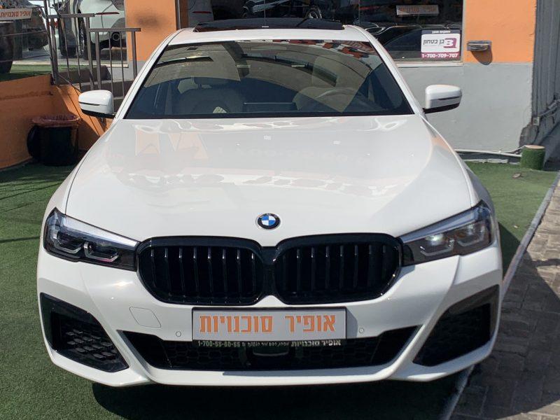 חזית הרכב במוו E 530 e M-SPORT לבן 2021 קניית רכב חדש 0 קמ