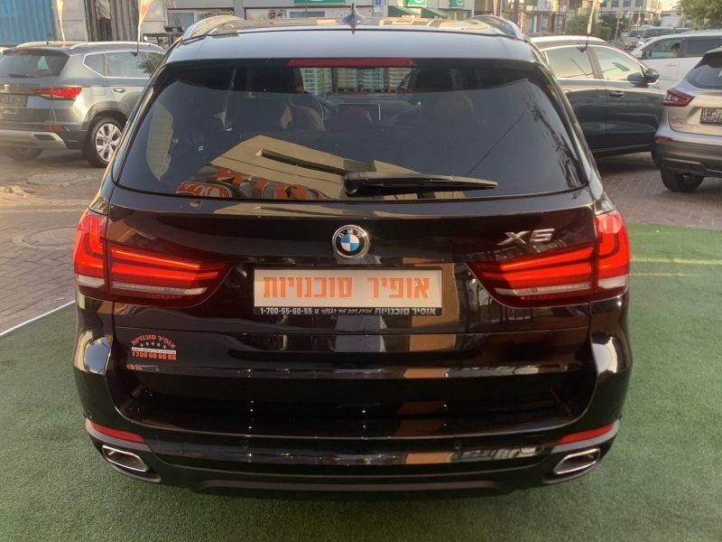 גב הרכב במוו X 5 30 D EXCLUSIVE שחור מטאלי 2019 קניית רכבי יוקרה יד 2