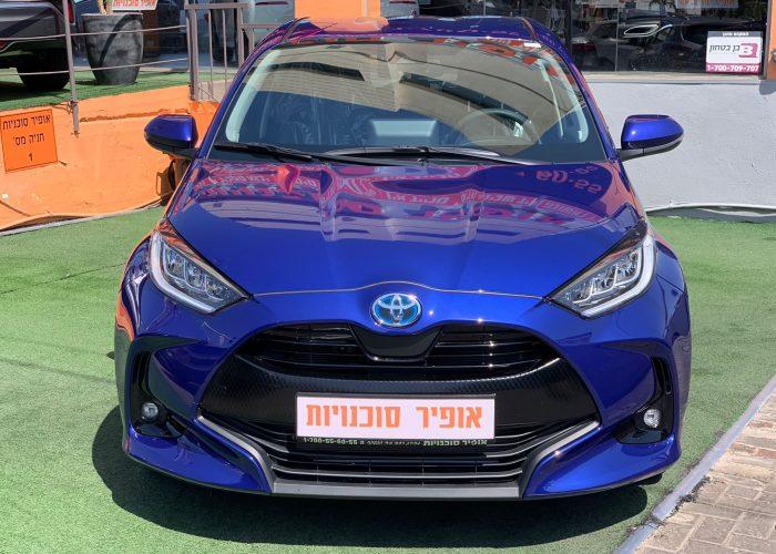 טויטה יאריס TECH כחול 2021 קניית רכב חדש 0 קמ