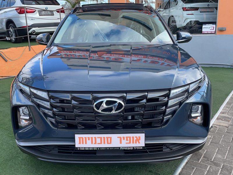 חזית הרכב יונדאי טוסון החדשה פנורמיק אפור 2021 קניית רכב חדש