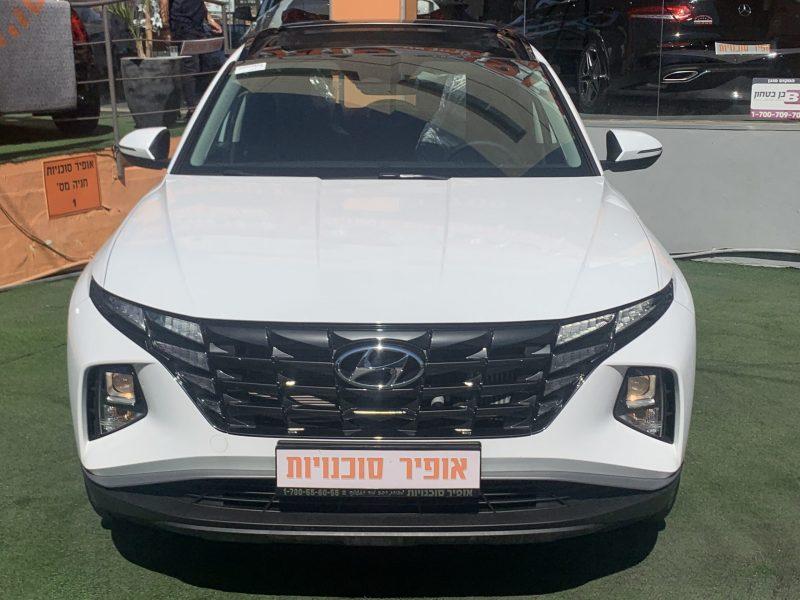 יונדאי טוסון LUXURY לבן שנהב 2021 קניית רכב חדש 0 קילומטר