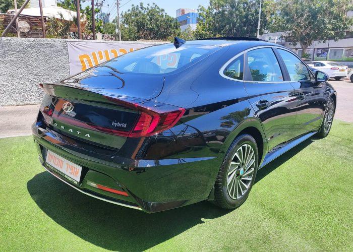 יונדאי סונטה היברידי PRESTIGE שחור מטאלי 2021 קניית רכב חדש