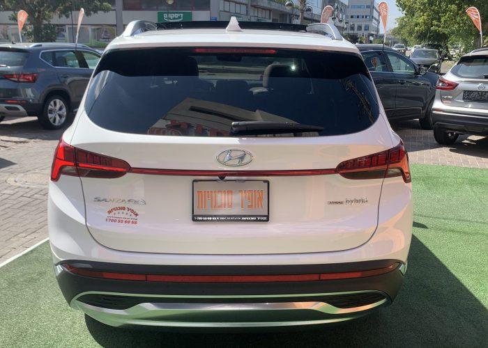 גב הרכב יונדאי סנטה פה LUXURY 4X4 לבן 2021 קניית רכבי יוקרה 0 קמ