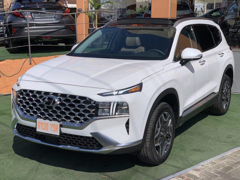 יונדאי סנטה פה LUXURY 4X4 לבן 2021 קניית רכבי יוקרה 0 קמ