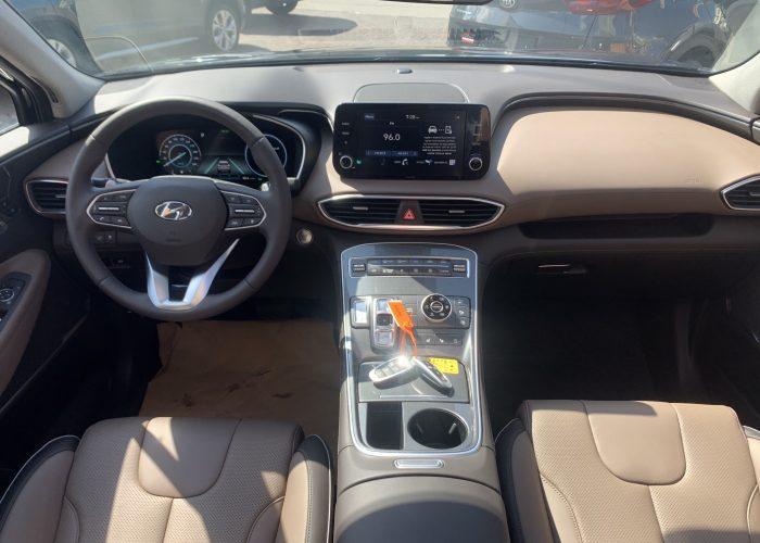 פנים הרכב מושב קדמי יונדאי סנטה פה LUXURY 4X4 שחור 2021 קניית רכבי יוקרה 0 קמ