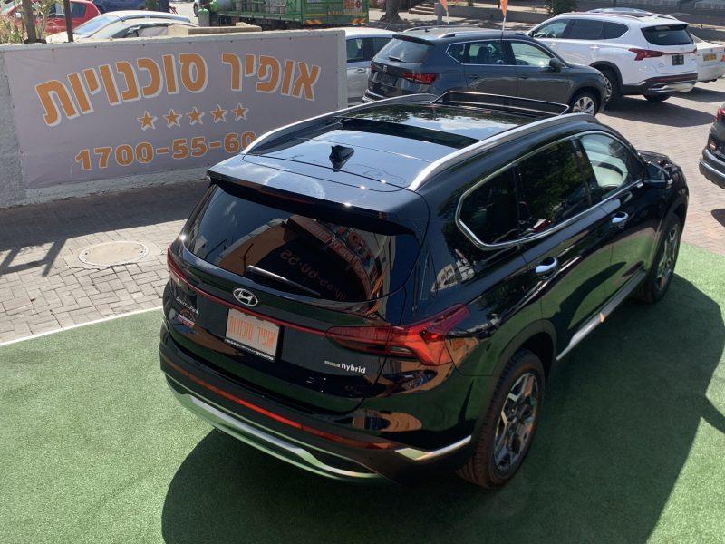 גב הרכב יונדאי סנטה פה LUXURY 4X4 שחור 2021 קניית רכבי יוקרה 0 קמ
