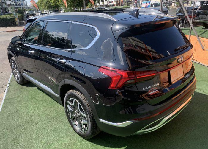 צילום אחורי יונדאי סנטה פה LUXURY 4X4 שחור 2021 קניית רכבי יוקרה 0 קמ