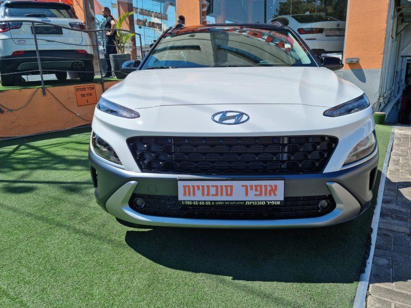 צילום חזית הרכביונדאי קונה PRIMEPLUS FL לבן 2021 קניית רכב חדש