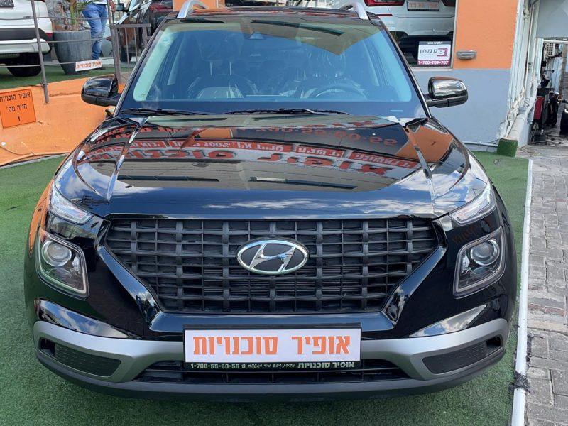 חזית הרכב יונדאי VENUE INTENSE שחור מטאלי 2021 קניית רכב חדש