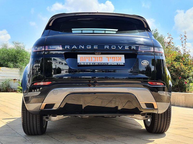 גב הרכב לנד רובר איווק R-DYNAMIC שחור מטאלי 2021 קניית רכב 0 קמ