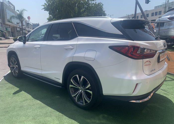 גב הרכב לקסוס RX 450 H PREMIUM 7 מושבים לבן פנינה 2018 קניית רכב יד 2