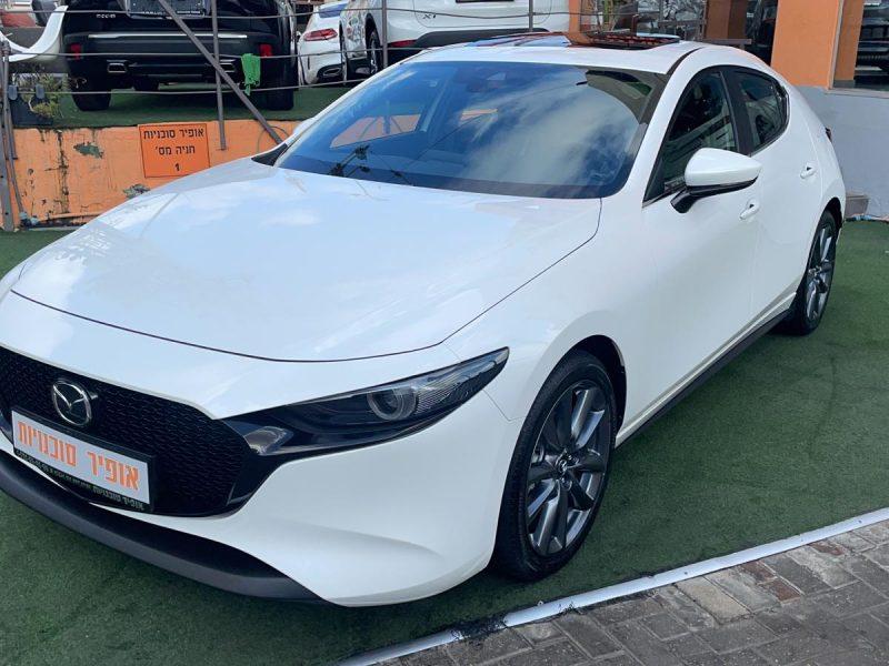 מאזדה 3 ספיריט לבן פנינה 2021 קניית רכב 0 קמ