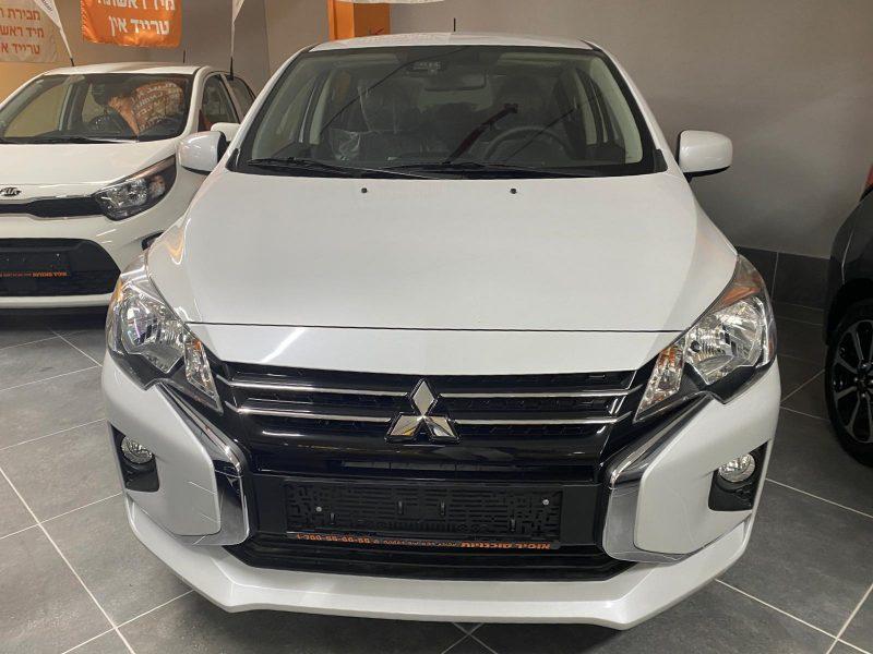 חזית הרכב מיצובישי ספייס סטאר SUPRIME לבן פנינה 2021 קניית רכב חדש