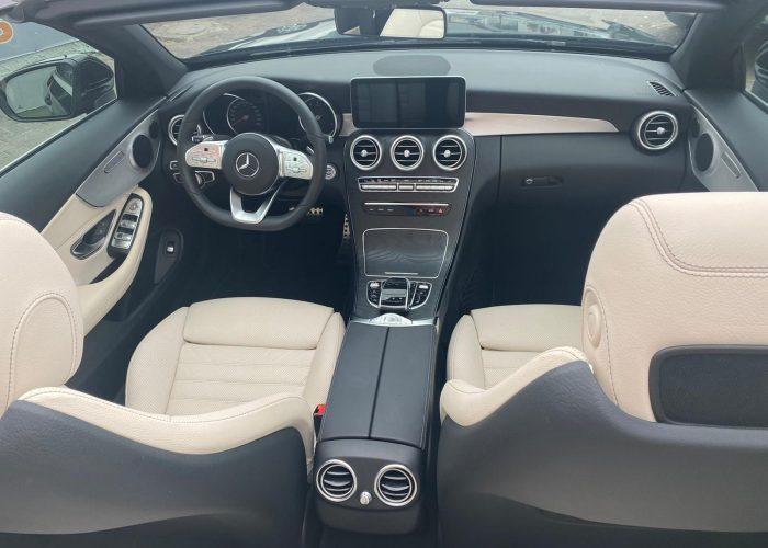 מרצדס C200 קבריולט AMG שחור 2021 רכבי יוקרה וספורט
