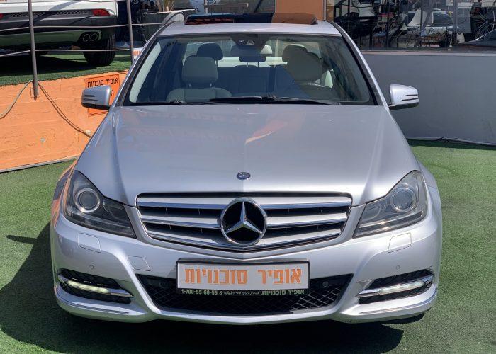 חזית הרכב מרצדס C200 AVANTGARDE כסף 2011 קניית רכב יד 2