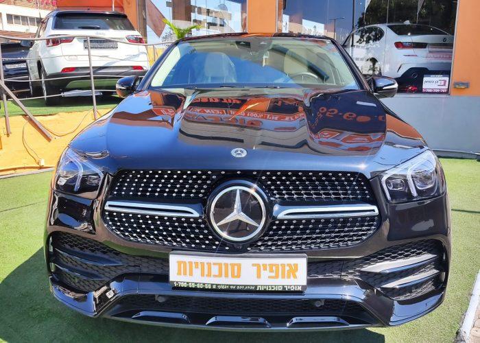 חזית הרכב מרצדס DE קופה GLE AMG שחור 2021 רכבי יוקרה 0 קמ