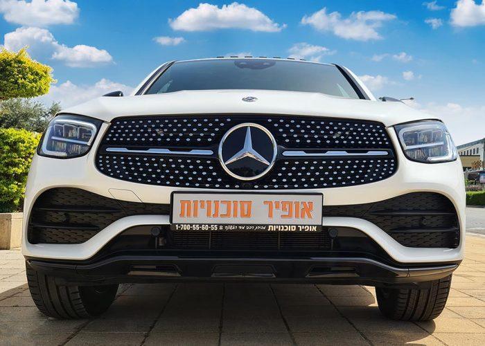מרצדס E 300 קופה GLC לבן פנינה 2021 רכבי יוקרה