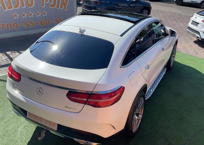 גב הרכב מרצדס GLE 400 AMG COUPE לבן 2017 קניית רכבי יוקרה יד 2