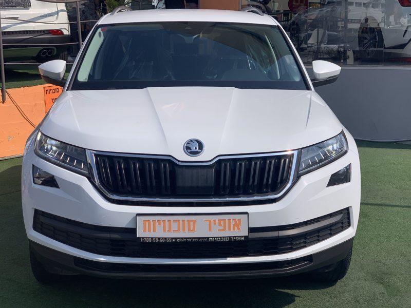 חזית הרכב סקודה קודיאק AMBITION לבן 2019 קניית רכב יד 2