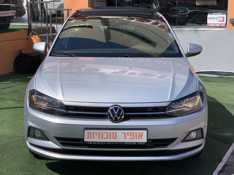 צילום קדמי של הרכב פולקסווגן פולו COMFORTLINE כסף מטאלי 2020 קניית רכב יד 2