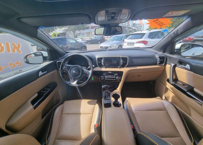 פנים הרכב קאיה ספורטג חדש EX 2016 לבן קניית רכב יד 2