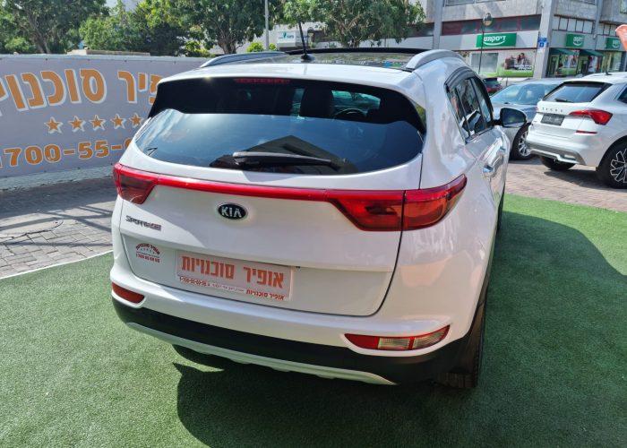 גב הרכב קאיה ספורטג חדש EX 2016 לבן קניית רכב יד 2