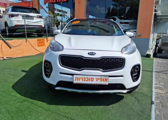 חזית הרכב קאיה ספורטג חדש EX 2016 לבן קניית רכב יד 2