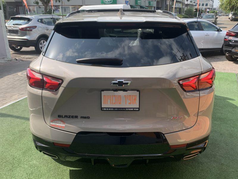 גב הרכב שברולט טרייל בלייזר RS בז 2021 קניית רכב 0 קמ