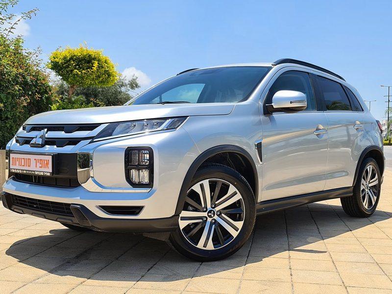 צילום קדמי מיצובישי ASX INSTYLE כסף מטאלי 2021. קניית רכב חדש